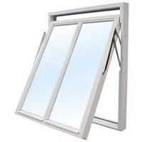 Vridfönster med bågpost - 3-glas - Trä - U-värde: 1,1