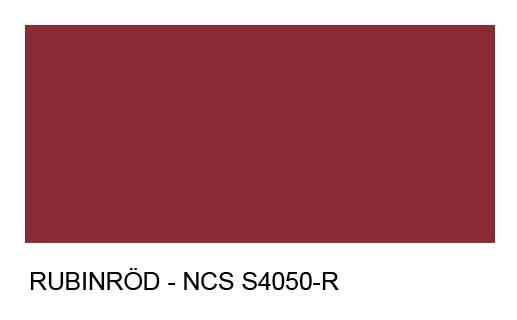 Rubinröd NCS S4050–R
