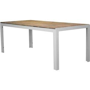 Balsjö matbord – Vit/akacia