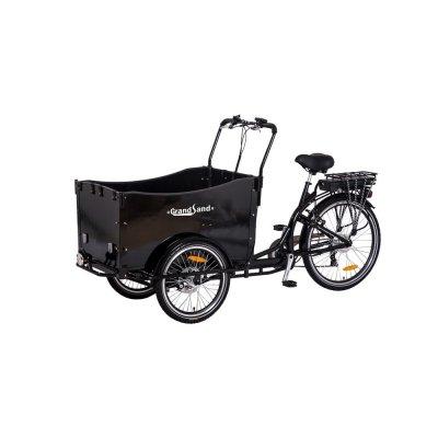 Eldriven Lådcykel med svart låda - 250W