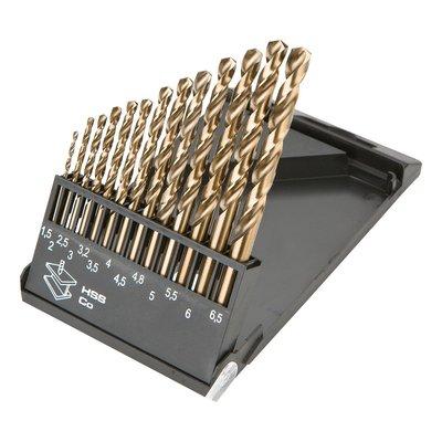 Borrsats HSS-Co, 1,5 - 6,5 mm - 13 delar