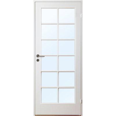 Innerdörr Gotland - Kompakt dörrblad med stort spröjsat glasparti SP12