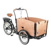 Lådcykel med brun låda - 250W