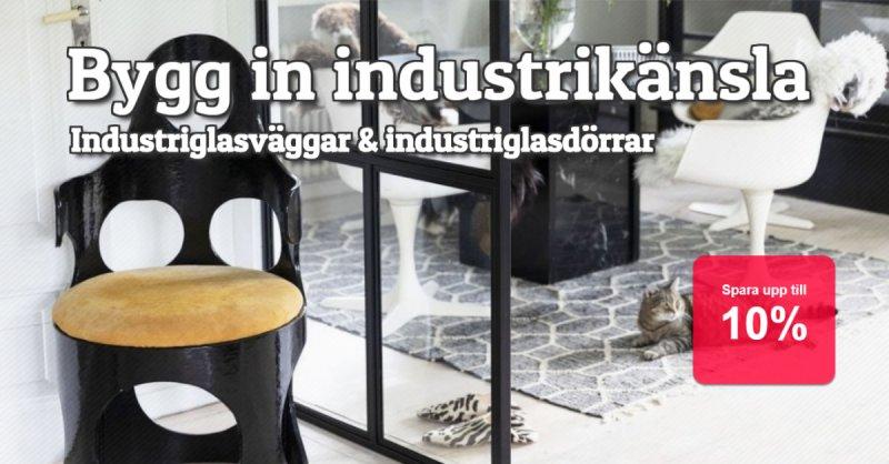 Industriglasväggar & industriglasdörrar 10%
