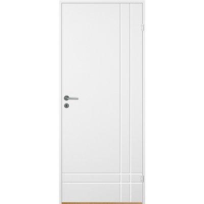 Innerdörr Bornholm - Kompakt dörrblad med linjefräst dekor A1