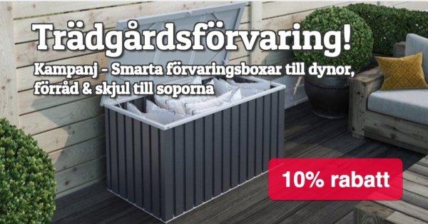 Kampanj - Smart trädgårdsförvaring 10% rabatt!