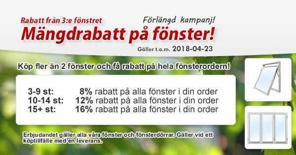 Vårkampanj - Mängdrabatt från tredje fönstret!
