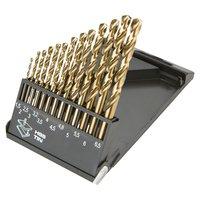 Borrsats HSS-TiN, 1,5 - 6,5 mm, 13 delar