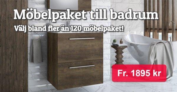 Möbelpaket till badrum 10%