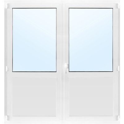 Pardörrar med fönster 3-glas Inåtgående med tilt - PVC - U-värde 0,96
