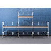 Byggnadsställning HAKI Ram 9x4 m + Gaveltopp - Aluminium