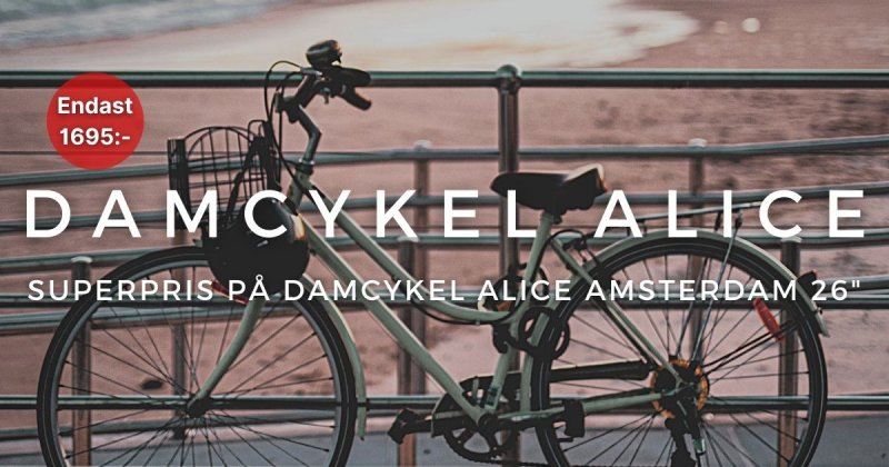 Superpris på Alice Damcykel