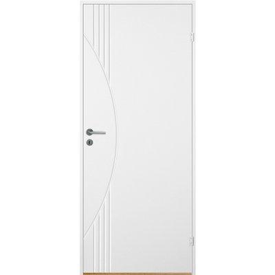 Innerdörr Bornholm - Kompakt dörrblad med spårfräst dekor A8