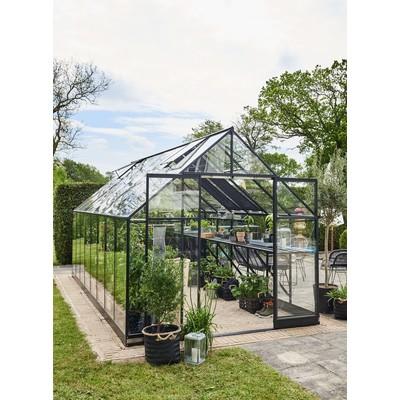 Växthus Qube 13 m² - Svart
