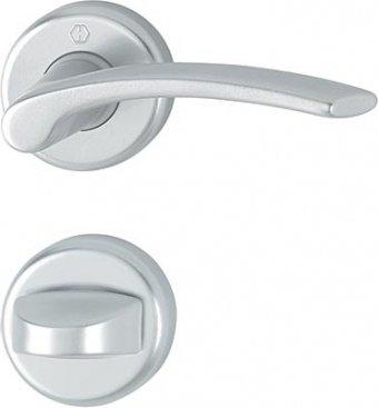 Handtag och WC-vred Hoppe Ibiza aluminium silver F1