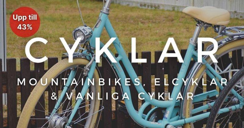 Cyklar - Upp till 43%