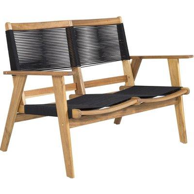 Prässebo soffa - Svart rep/Akacia