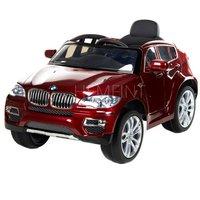 Röd BMW X6 för barn - Med fjärrkontroll
