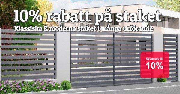 Moderna & traditionella staket 10% rabatt!