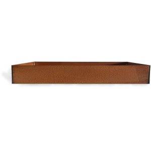 Cortenstål kruka rektangulär - 20x60x80 cm