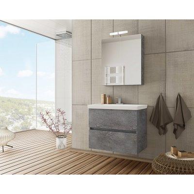 Möbelpaket Luxus 70 - Granitfärgat med spegelskåp