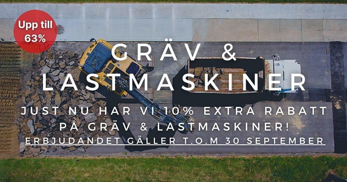 10% extra rabatt på Gräv & lastmaskiner!