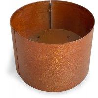 Cortenstål kruka rund - H50 x Ø50 cm
