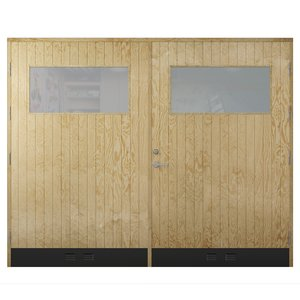 Garageport 18° Rak Panel Glas