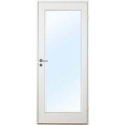 Innerdörr Orust - Slätt & kompakt dörrblad med stort glasparti G01