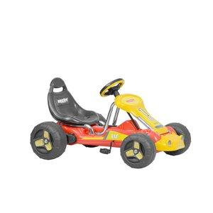 Trampbil - Röd och gul