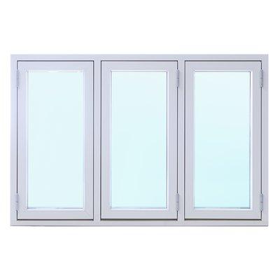 3-glas aluminiumfönster utåtgående - 3-Luft - U-värde 1,1