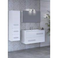 Möbelpaket Fancy 75 vit med spegel väggskåp