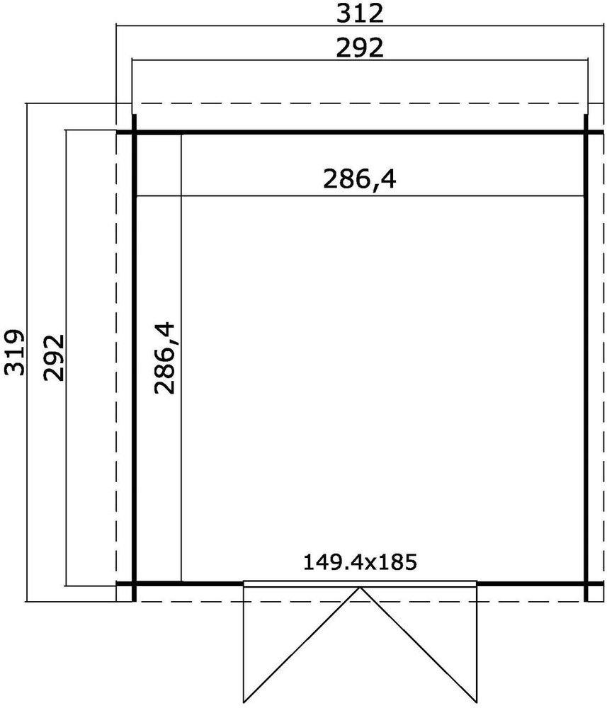 Förråd Savannah – 8,5 m²