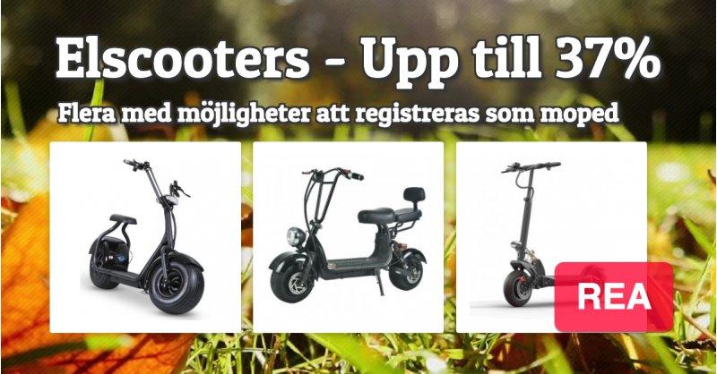Elscooter, trehjulingar 14995 kr ord.pris 16495 kr