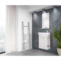 Möbelpaket Minimo 45 vit/beige med spegel