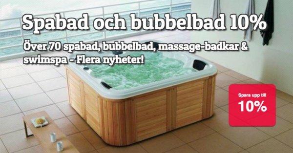 Spabad och bubbelbadkar 10% rabatt!