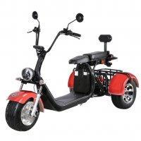 Elscooter Trehjuling - Röd 2000W