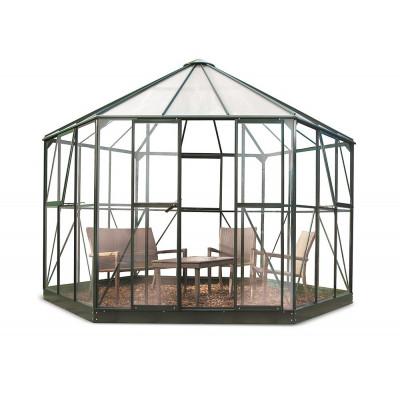 Växthus Atrium Grön - 9 m²