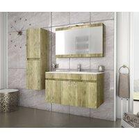Möbelpaket Magnolia guldfärgad 90 med tvättställ i porslin