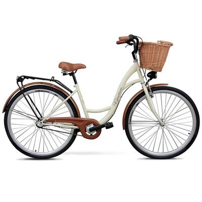 """Cykel Classic 28\\\"""" - 3 växlar - gräddvit"""
