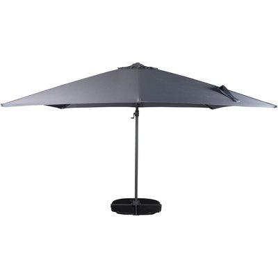 Lerhaga parasoll – Svart/grå