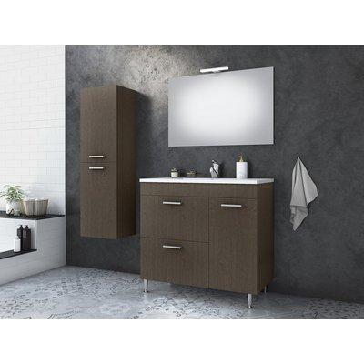 Möbelpaket Med 85 - Bronsfärgat med spegel & sidoskåp