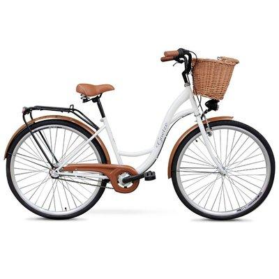 """Cykel Classic 28\\\"""" - 3 växlar - vit"""