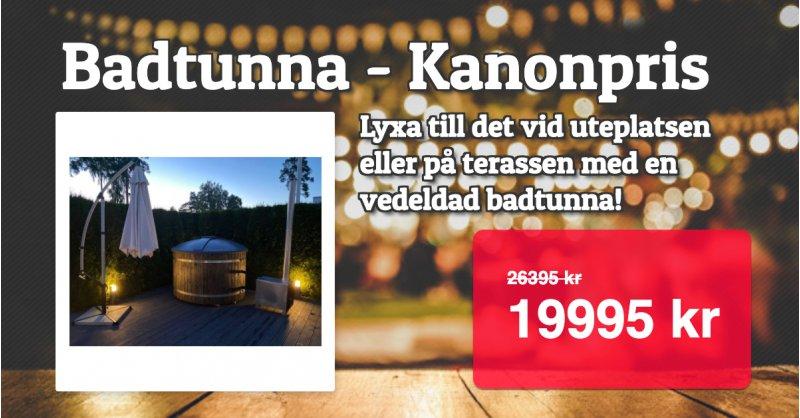 Badtunna med elduppvärmning 19995 kr