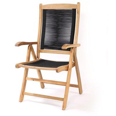 Prässebo positionsstol – Akacia/svart rep
