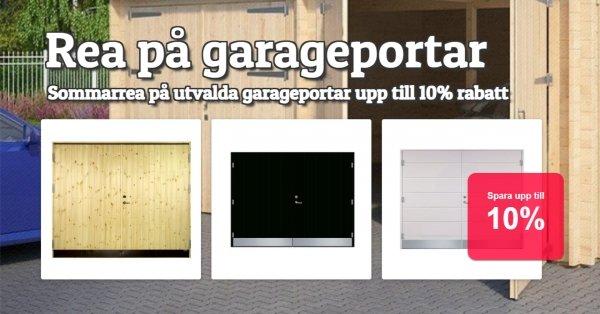 Upp till 10% rabatt på garageportar