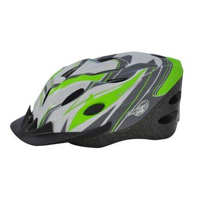 Cykelhjälm Cooper vit & grön
