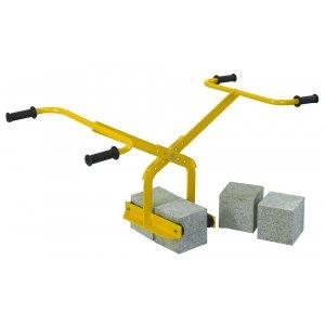 Blocklyft med dubbelfattning - 75 / 160 mm