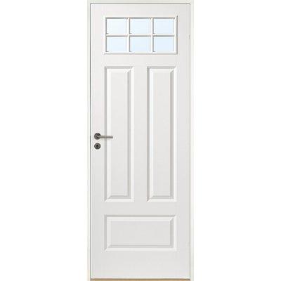Innerdörr Gotland - Kompakt dörrblad med 4:spegel-indelning ink glasparti SP6