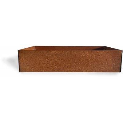 Cortenstål kruka kvadrat - 20x80x80 cm